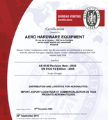 Certification Bureau Veritas ISO 9001